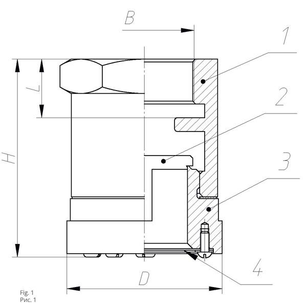 Клапан приемный КП-40 (50)