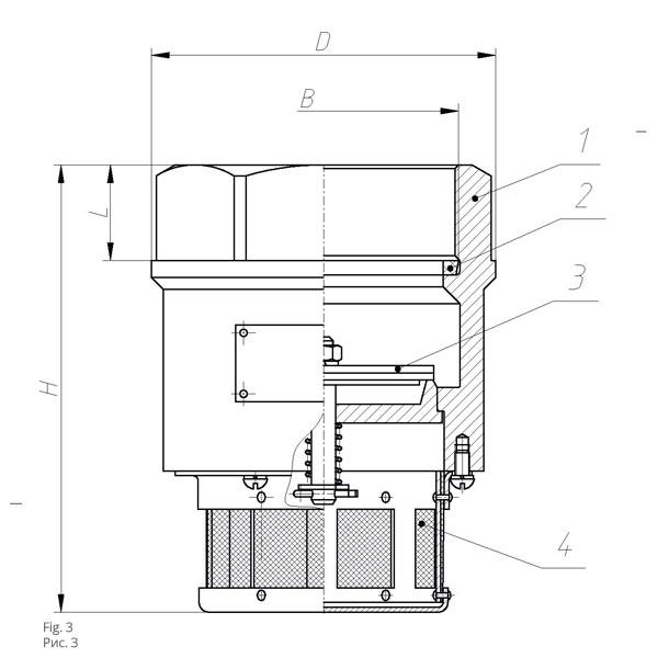 Клапан приемный КП-80 (100)