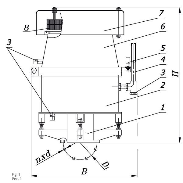 Чертеж клапана предохранительного гидравлического КПГ