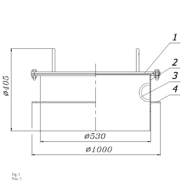 Чертеж люка светового ЛС-500
