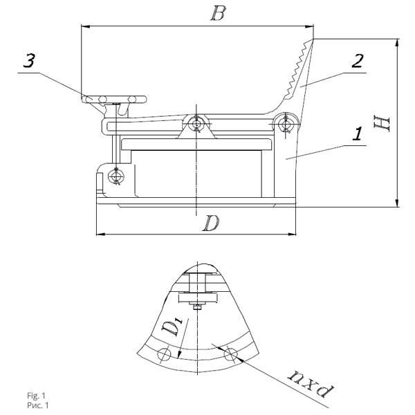 Чертеж люк замерный ЛЗ-80 А, 150 А