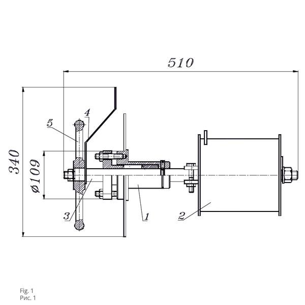 Чертеж механизма управления хлопушкой МУ-1 и МУ-2