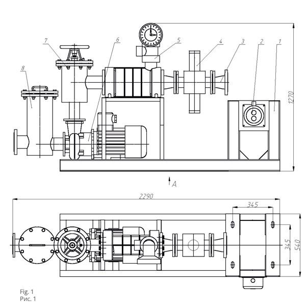 Чертеж насосной установки НУ-80УУ