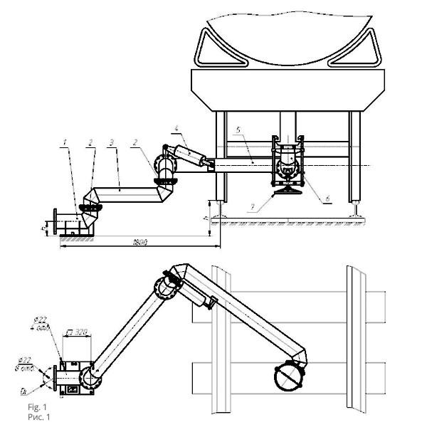 Чертеж установки нижнего слива (налива) УСН 150